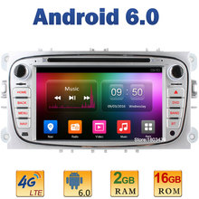 7″ Quad Core 2GB RAM 4G LTE SIM WIFI Android 6 Car DVD Player Radio Stereo For Ford Mondeo S-MAX Tourneo Connect Focus 2 DAB+ BT