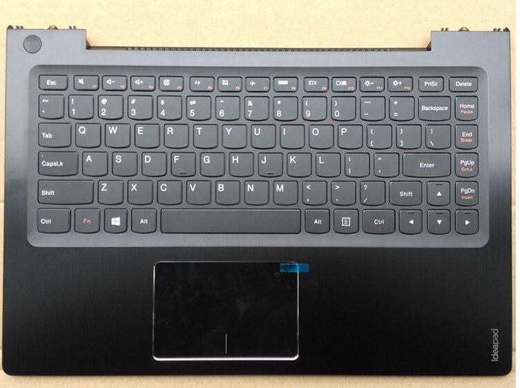 US New laptop keyboard with Touchpad palmrest for lenovo U430 U430P U330 U330P no-backlit black стоимость
