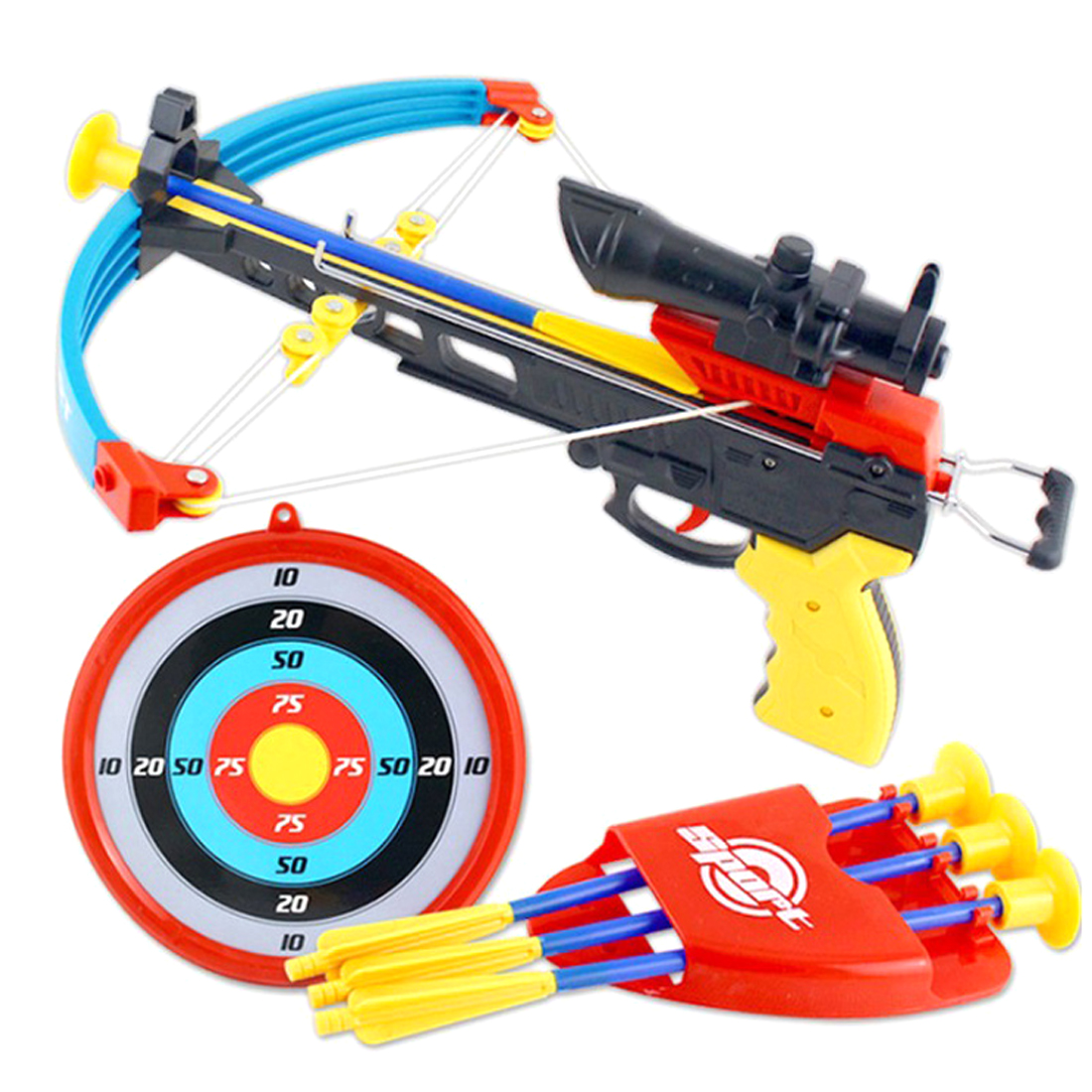 Children Simulation Bow Crossbow Classic Outdoor Sport Toys Set for Kids Children Early Development 2018 New Arrivel