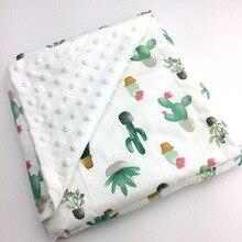 Детское хлопковое тонкое супер мягкое фланелевое одеяло для новорожденных, Детское Одеяло Минки, Полосатое Пеленальное Одеяло, постельные принадлежности, пузырьки