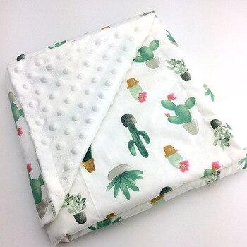 Детское хлопковое тонкое супер мягкое фланелевое одеяло для новорожденных, детское одеяло в полоску, накидка на постельные принадлежности,...