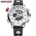 Los Nuevos Hombres de WEIDE Relojes de pulsera de Moda de Lujo Famosa Marca de Relojes Correa de Cuero Relojes Deportivos de Alta Calidad A Prueba de agua