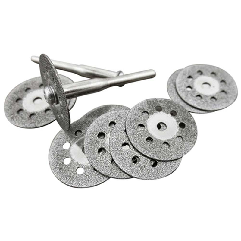 1Set 10pcs Circular Blades Cutting Wheel Discs Mandrel Rotary Cut-off Tool