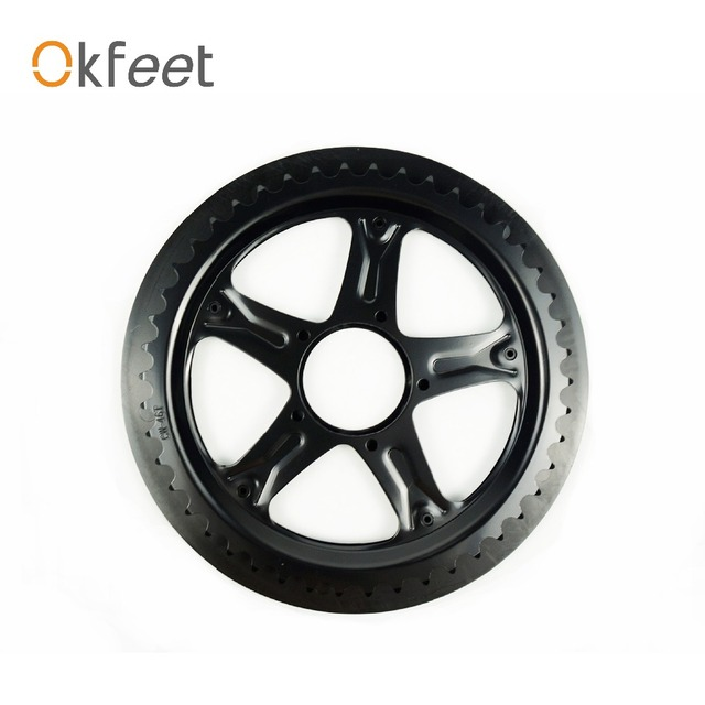 Okfeet BBS01 BBS02 BAFANG Chain Wheel and Replacement Chain Guard Black 46T 48T 52T Chainwheel Teeth Black