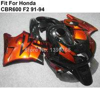 Aftermarket body parts fairings for Honda CBR600 F2 red black 1991 1992 1993 1994 fairing kit CBR600 F2 VN99