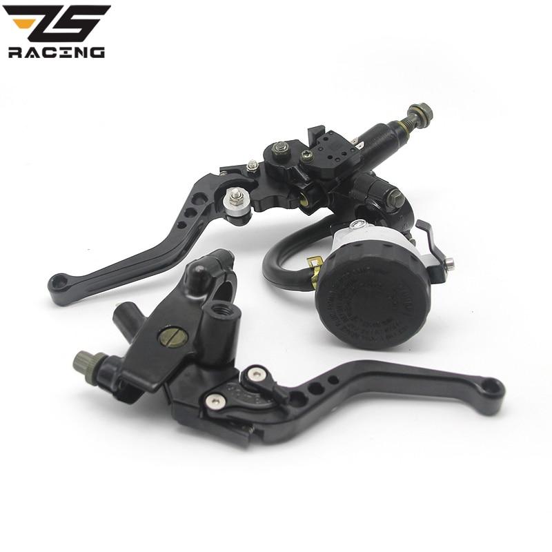 22mm Motorcycle Brake Universal CNC Clutch Levers Master Cylinder Reservoir Set For Honda Suzuki Kawasaki Yamaha D10