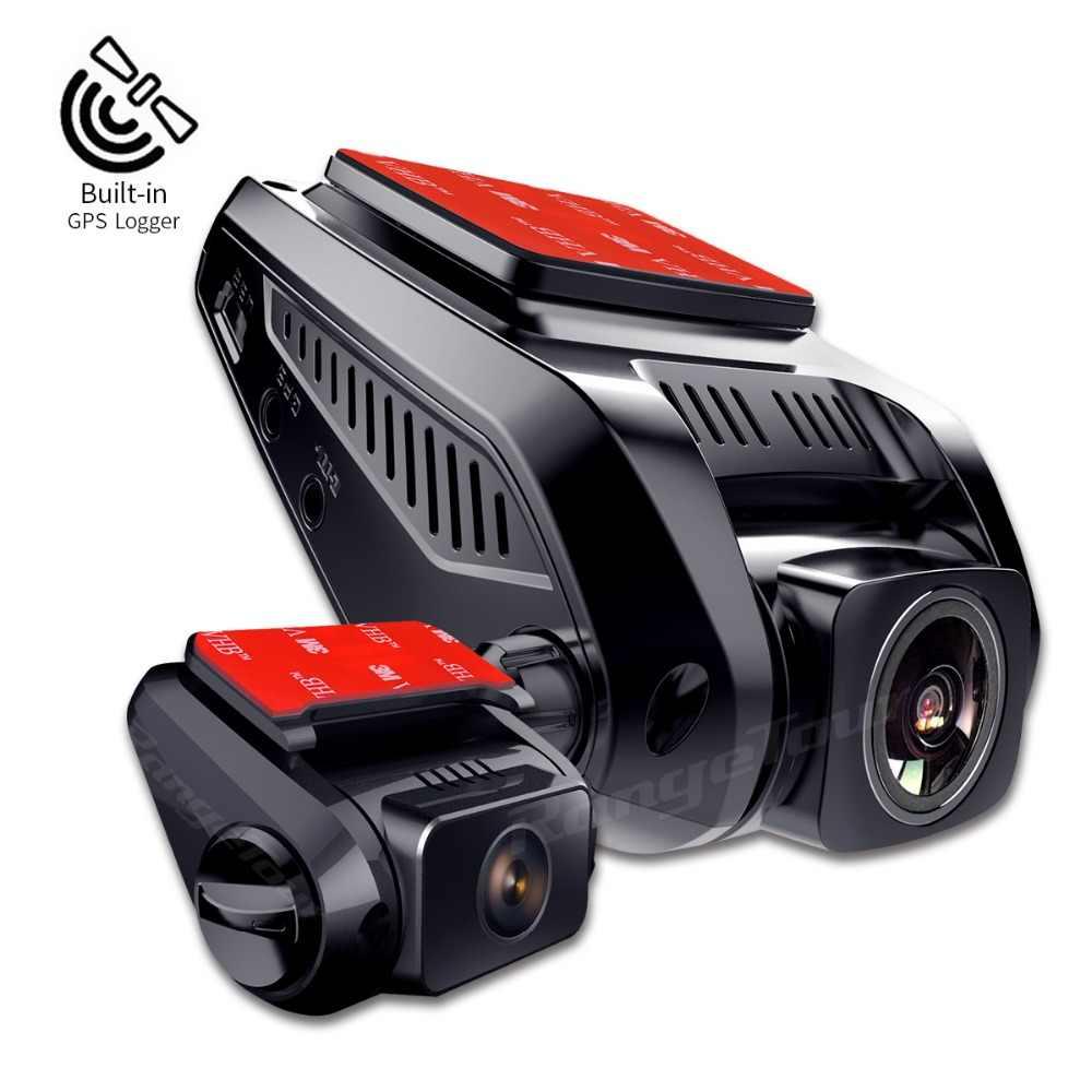 """عدسة مزدوجة داش كاميرا كامل HD 1080 p سيارة كاميرا DVR 2.7 """"LCD WDR مسجل فيديو دعم GPS المسجل مع 720 p الخلفية Dashcam"""