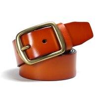High Quality 100 Cowhide Leather Belt Brass Buckle Men Famous Designer Belts Men Strap Brand Belt