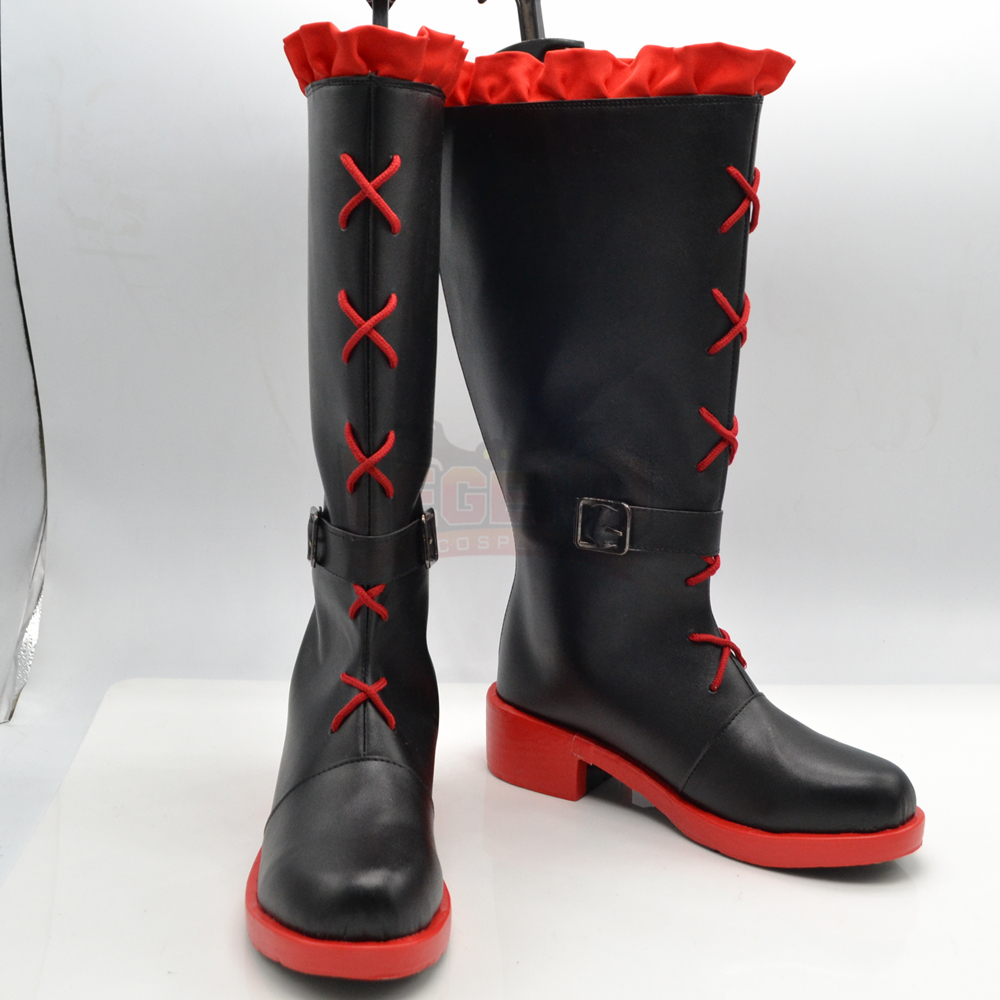 RWBY RUBY red Cosplay shoes Custom made female shoes boots