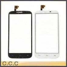 10 pcs/lot Façade En Verre Panneau Capteur Pour Alcatel One Touch POP C9 Double OT7047 7047D 7047 Digitizer Écran Tactile