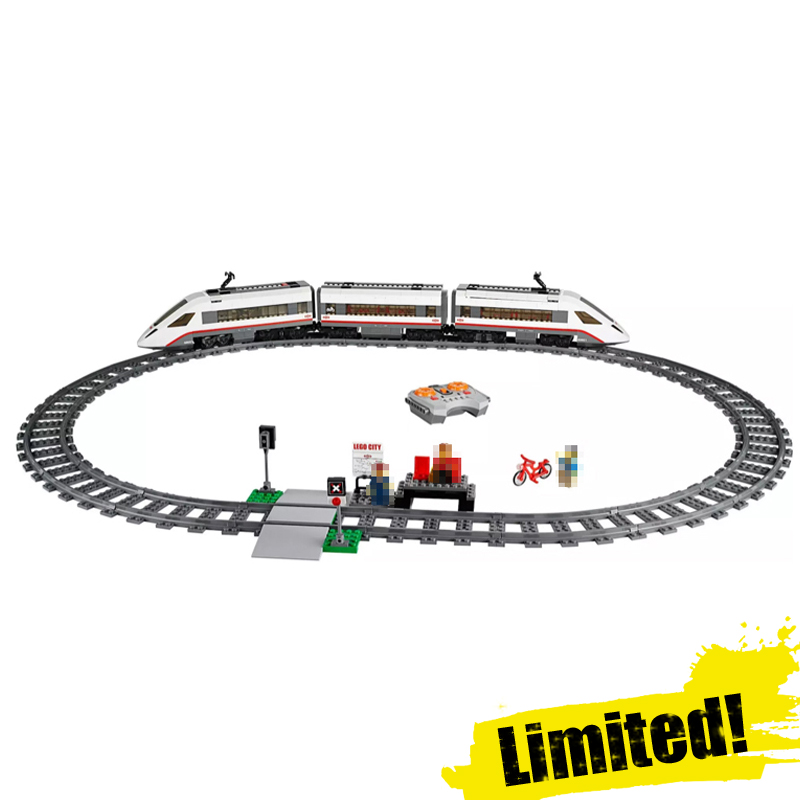 High Speed Passenger Train Lepin 02010 Remote Control RC Trains 610pcs Building Blocks Bricks Toys Compatible legoingly 60051 lepin 02010 610pcs city series building blocks rc high speed passenger train education bricks toys for children christmas gifts