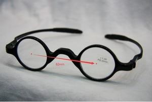 Image 2 - 3 쌍 팩 클래식 레트로 라운드 프레임 독서 안경, 교사 음악가 유연한 포켓 리더 + 1.0 ~ + 3.5 소프트 케이스와 함께