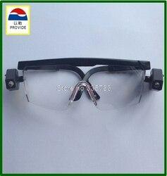 Czarny jasne światła LED okulary ochronne noc okulary do czytania dla bezpiecznej pracy przemysłowej do naprawy samochodu na świeżym powietrzu sport jazda konna