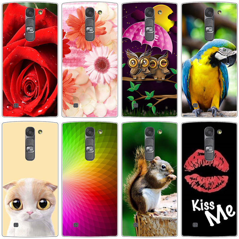 Back Case for LG Magna G4c H522Y H502f H500F H525N Flower Crown Tower Pattern Soft TPU Silicone Cover For LG G4 Mini Case