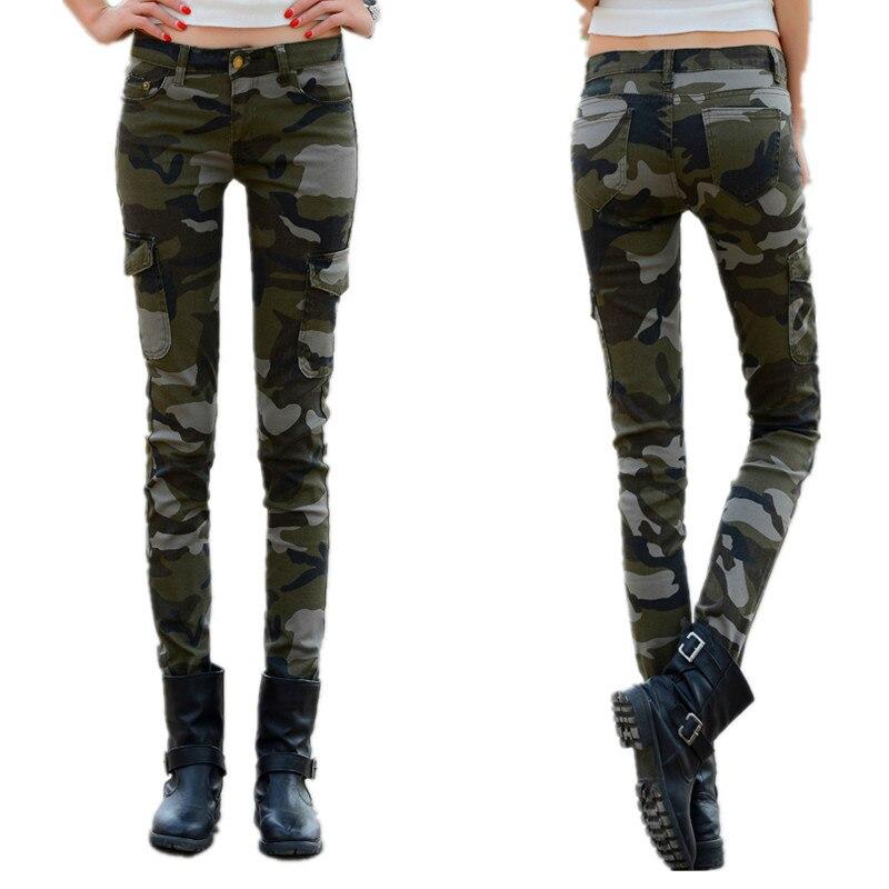meilleur endroit complet dans les spécifications bien pas cher € 17.98  Printemps Camouflage Skinny Stretch crayon pantalon femme  militaire uniforme pantalon décontracté grande taille 34 Cargo pantalon  femmes-in ...