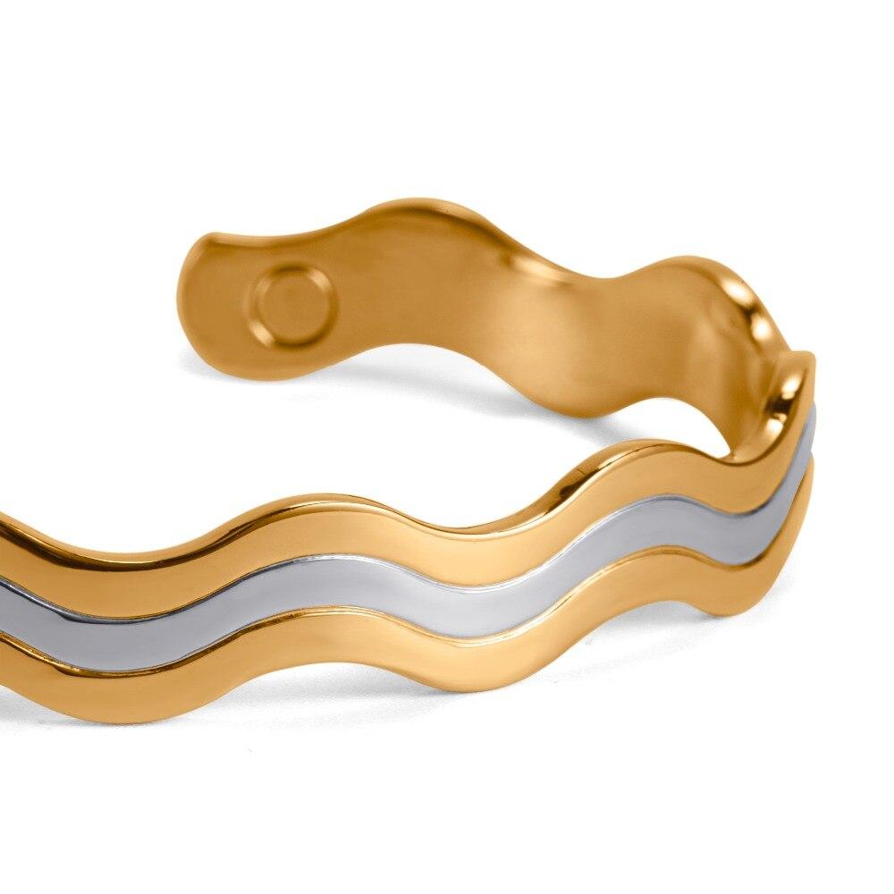 RainSo Fashion Copper Bangle!6 Magnets Health Balance magnetic pure copper bracelet bangles For Mens/ Women