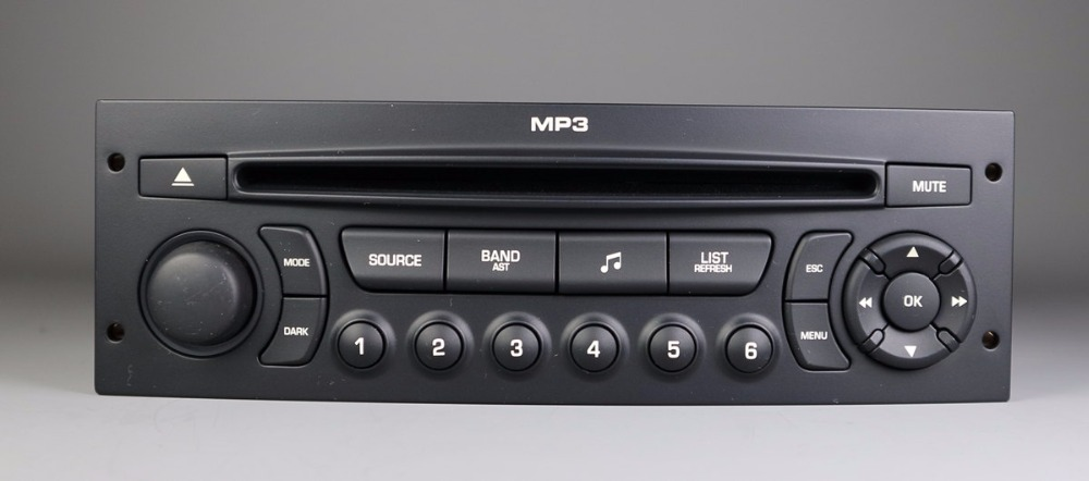 RD43 CD player with USB AUX function for Peugeot 206 207 307 508 Citroen C2 <font><b>C4</b></font> C5 C6 instead of RD4 player image