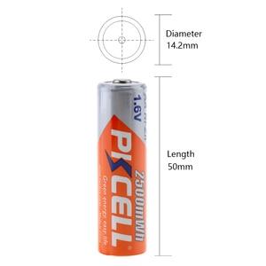 Image 3 - 8 قطعة/2 حزمة PKCELL 1.6 فولت نيزن AA بطاريات قابلة للشحن NI Zn 1.6 فولت 2500mWh AA بطاريات 1 قطعة AA/AAA شاحن بطارية نيزن
