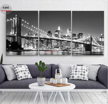 Canvas Oil Painting Art Prints Wall Modular Pictures For Living Room Home Decorative Picture Poster City Night View 3p 008
