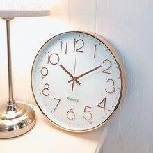 2019 Rose Gold Digital Clock Quartz Silent for Home Decoration Drop Shipping