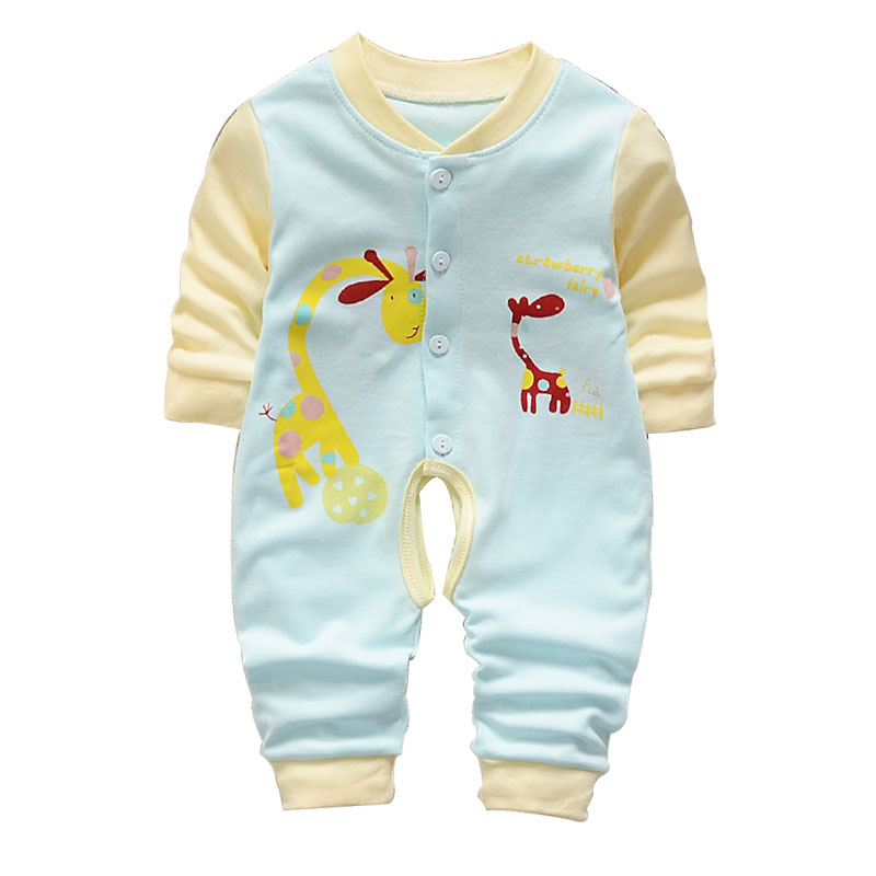 2017 fashion baby boy clothes long sleeve baby rompers newborn cotton baby girl clothing jumpsuit infant clothing fashion baby clothes cartoon baby boy girl rompers cotton animal and fruit pattern infant jumpsuit hat set newborn baby costumes