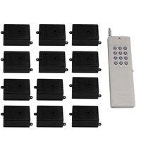 24V Self lock 12 Receivers Wireless Remote Control 433MHz Light Door