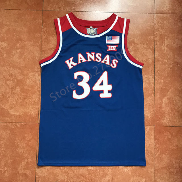 huge discount 0e9b6 15987 #34 Paul Pierce Kansas Jayhawks KU Throwback College Basketball Jersey  Embroidery Stitched-in Basketball Jerseys from Sports & Entertainment on ...