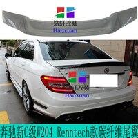 For Benz W204 C300 C180 C220 2007   2013 4 Doors Sedan C Class Carbon Fiber rear boot Wing Spoiler Wing Trunk Lip Boot Cover|Spoilers & Wings|   -