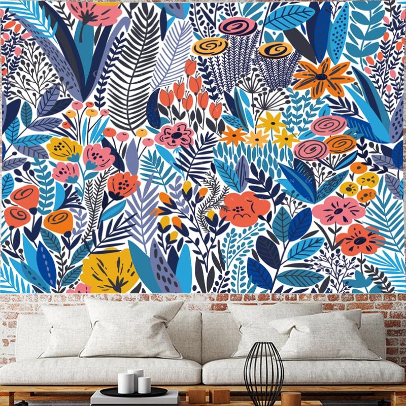 Pastoralism blue Flower tapestry wall hanging Children 39 s room wall hanging kids room tapestry Wall Tapestry Hanging Home Decor in Tapestry from Home amp Garden
