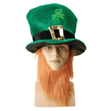 Funny Clover Faux Long Beard Stovepipe Hat St Patrick Day Costume Decoration Hot
