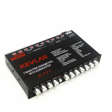 Car audio EQ tuner frequency divider, car amplifier car equalizer 7CH Car Audio Amplifier Equalizer