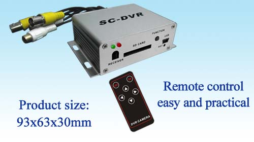SC-DVR New Style C-DVR Mini Security DVR - SD Card Recording, Remote Control With Romote Control