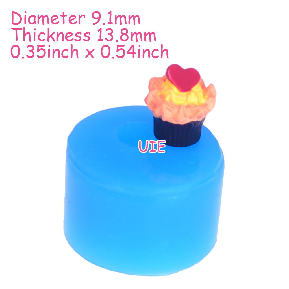Free Shipping Gyl450u 3d Cake With Heart Mold Kawaii Sweets Red Velvet Nougat 15cm Silicone Food Safe Craft Resin Chocolate