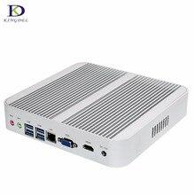 Новый безвентиляторный неттоп 6th Gen Skylake Windows 10 рабочих Мини ПК с Core i5 6200U 4 К VGA HDMI HTPC WiFi мини настольных ПК