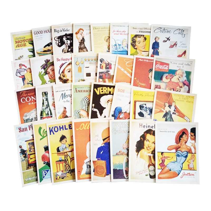 32 Pcs/pack Vintage Old memory Postcard Fashion Christmas Gift Postcard Birthday Greeting Card Lovely Greeting Cards