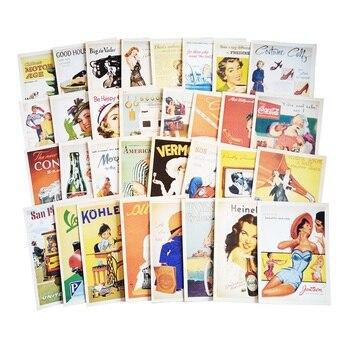 цена на 32 Pcs/pack Vintage Old memory Postcard Fashion Christmas Gift Postcard Birthday Greeting Card Lovely Greeting Cards