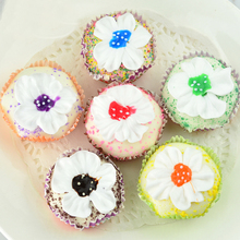 цена на 050 Imitation lace paper cup flower tea cake PU fake cake bread model cabinet display props