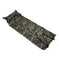 Self Inflatable Air Mattress Pillow Sleeping Bag Bed Camping Hiking Outdoor Picnic Activity Portable Survival Tool