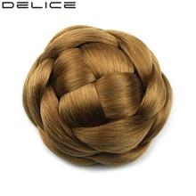 [Delice] Клип В Женские высокие Температура волокно Синтетический Плетеный волосы булочка шиньон, Однотонная одежда