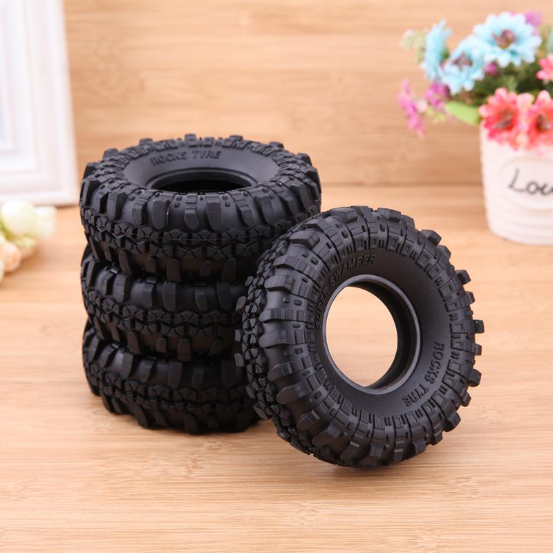 4pcs/lot RC Crawler Car Rubber Wheel Tires for 1:10 RC Rock Crawler for Traxxas Hsp Redcat Off-road Vehicle SCX10 D90 mxfans rc 1 10 2 2 crawler car inflatable tires black alloy beadlock pack of 4