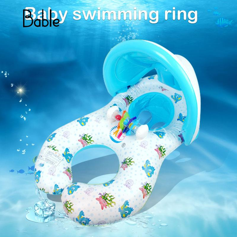 2018 Baby Inflatable Swimming Ring Swimming Pool Accessories Baby Swim Neck Safety Sunshade Circle Float Ring For Baby Kids high quality swimming pool baby swimming pools eco friendly pvc baby inflatable swim accessories water swim float necessaries