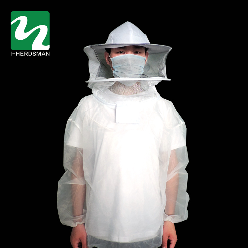 Hot Sale Anti Bee Suit Sleeve Head Bee Clothing Protective Clothing Clothing Siamese Bee Preventing Cap Hat beekeeping kit