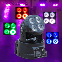 LED Mini Wash 4X20W RGBW Moving Heads DMX 14 Channels DJ Nightclub Stage Lighting