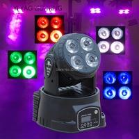 LED Mini Yıkama 4X20 W RGBW Hareketli Kafa DMX 14 Kanal DJ Gece Kulübü Sahne Aydınlatma