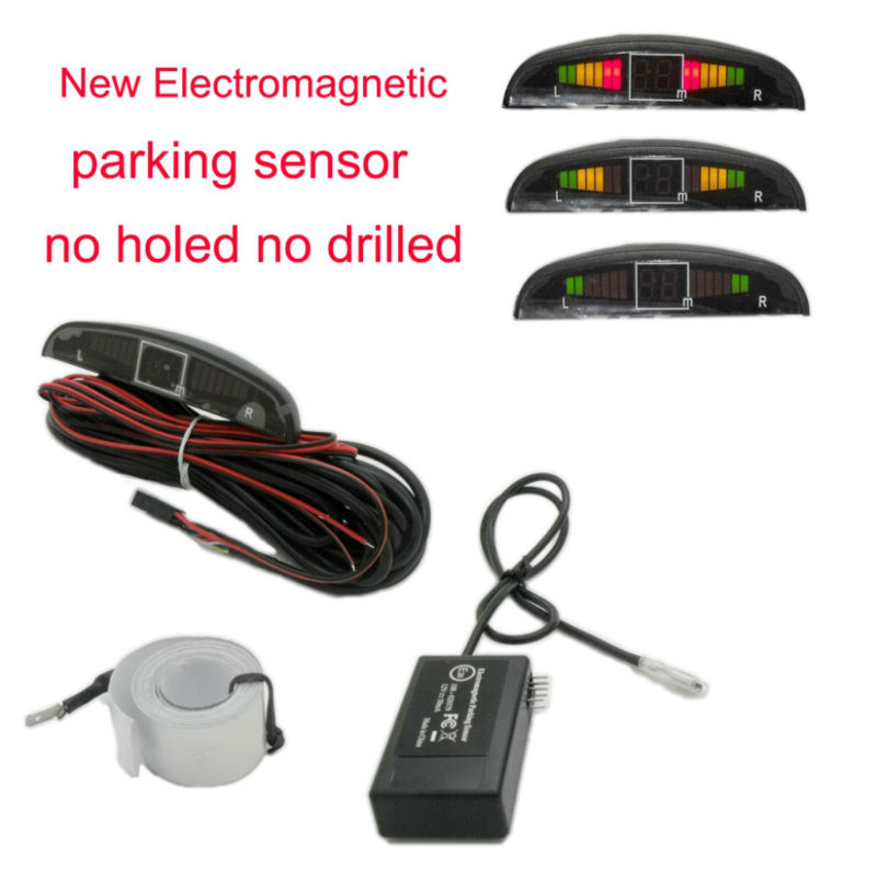 Free shipping Electromagnetic parking sensor with led display no holes need to be drilled U303Free shipping Electromagnetic parking sensor with led display no holes need to be drilled U303