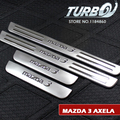 For 2003 - 2009 MAZDA 3 Car Stainless Steel Door Sill Plate Scuff Welcome Pedal Cover Sticker 4PCS/set