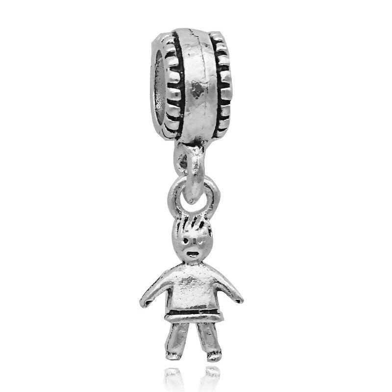 Free shipping 1PC European Silver Little Boy Bead Charm Fits Pandora Charm Bracelets & Necklace diy Jewelry for Women