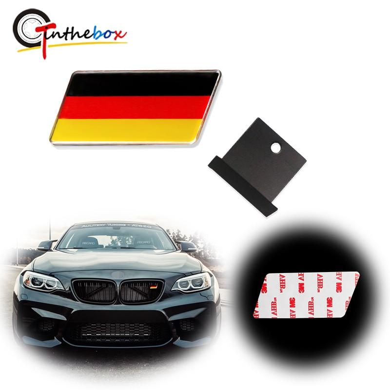 Gtinthebox 1PC Universal Euro German Germany Flag Emblem Badge w/Grille Aluminum Plate Fits For BMW, VW etc