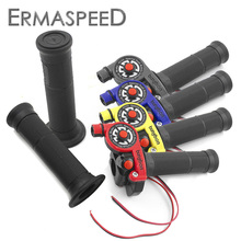 7/8 22mm Motocross Hand Grips with Throttle Control Refuel Ignition Kill On-Off Switch Universal for ATV Quad Buggy Dirt Bike