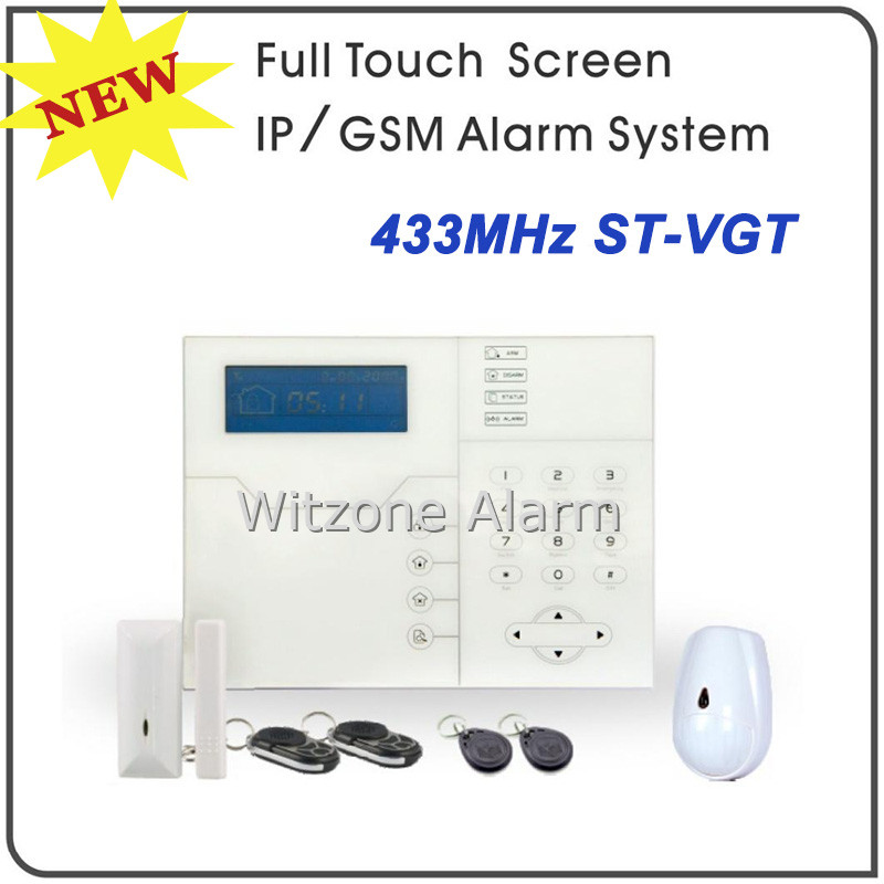 Android&IOS APP Controlled WEB IE GSM SMS Home Burglar Alarm ST-VGT, TCP/IP GSM Alarm Control System w Pet Immune Motion Sensor smart android ios app controlled home alarm system touch keypad wifi gsm alarm system with pet immune motion detector siren horn
